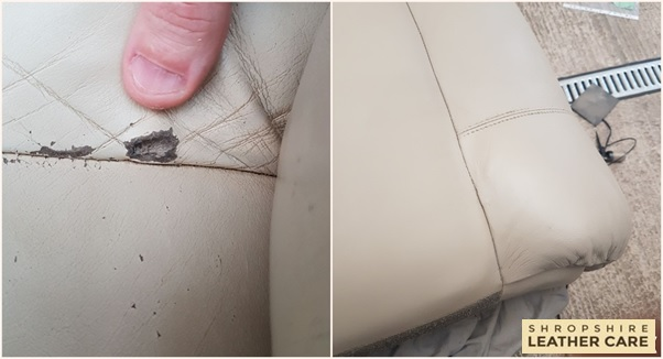 leather sofa repair Telford