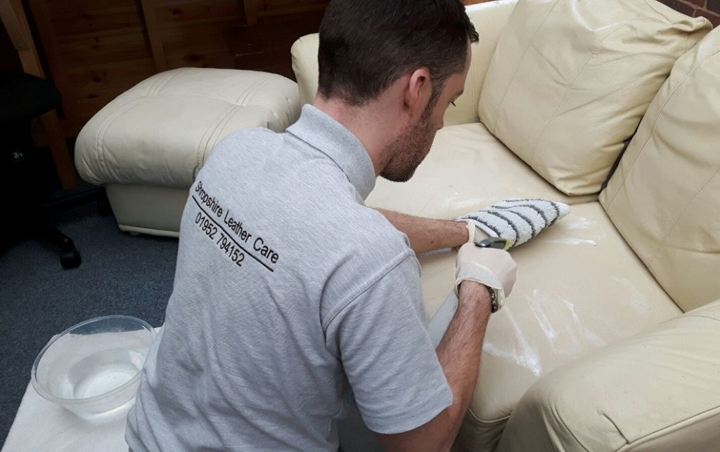 leather cleaning telford