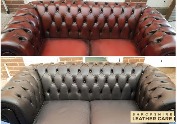 Chesterfield colour change to ox blood red